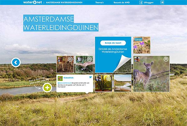 Website Amsterdamse Waterleidingduinen
