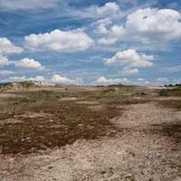 grijze duinen landschap